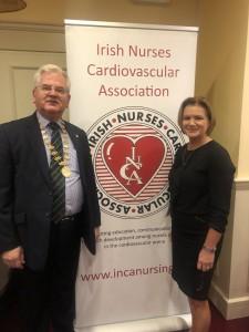 ICS president Albert McNeill and INCA President Bernie Hannon ICS Galway 2018