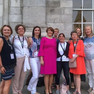 INCA Committe past and present meeting with Professor Mary McCarron, Trinity College