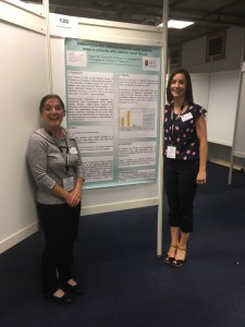 Norma Caples and Edel Cronin with poster EuroHeartCare Dublin 2018