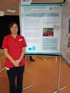 Shirley Ingram with poster at NMPDU Dublin South, Kildare and Wicklow Regional Conference September 2018